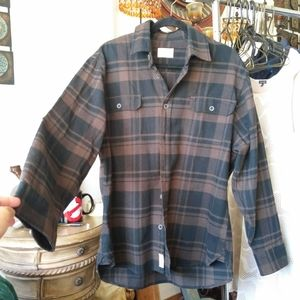 Jachs Brown and Black Plaid Flannel Men Size Large